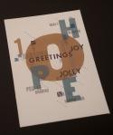letterpress, xmas card