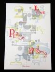 letterpress, christmas card, 16 christmas card, typography
