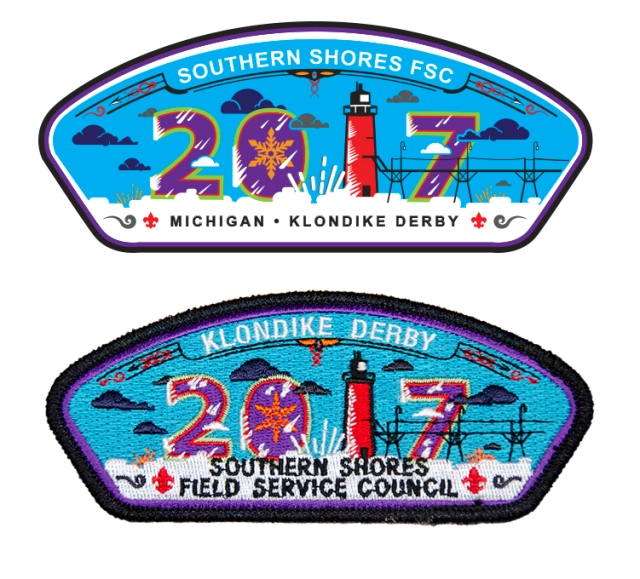 Klondike Derby, Klondike Derby patch, Southern Shores Field Service Council, Council Patch