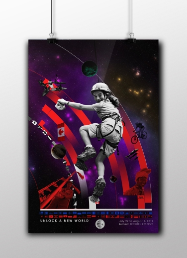 WSJ, World Scout Jamboree 2019, Poster, Left Side Poster
