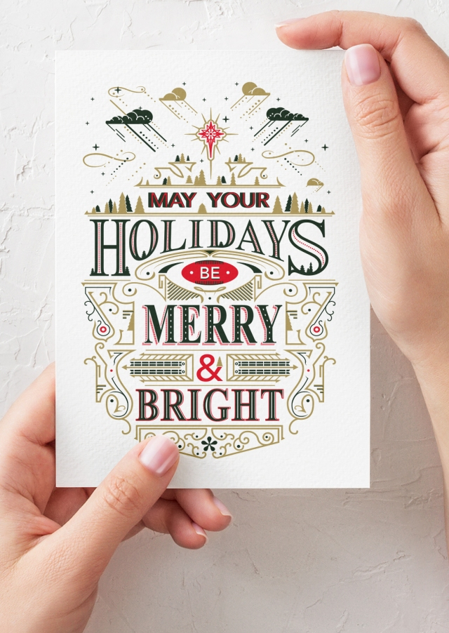 Christmas Card Design 2019, letterpress,
